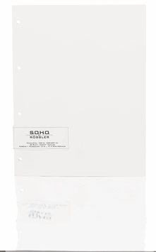 Fotokarton Weiß 29,7x23cm - Fotothek by Rössler (Packung 20 Blatt)
