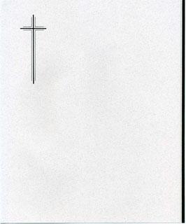 Rössler Traueranzeigen - Recycolux mit Silberkreuz