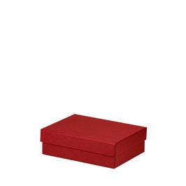 Kartonage rechteckig Rot 190x140x60mm - Boxline by Rössler 3er Satz