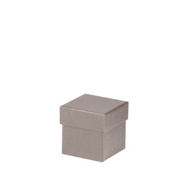 Kartonage quadratisch Taupe 65x65x65mm - Boxline by Rössler 4er Satz