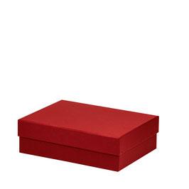 Kartonage rechteckig Rot 264x196x80mm - Boxline by Rössler 3er Satz