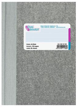 Geschäftsbuch kariert A6 Deckenband-Einband - K&E von Baier & Schneider