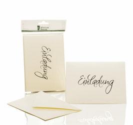 Rössler Einladung Candle Light Metallic (30 Einladungskarten)