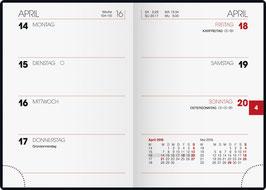 Brunnen Taschenkalender 2020 7,2x10,2cm - Modell 713