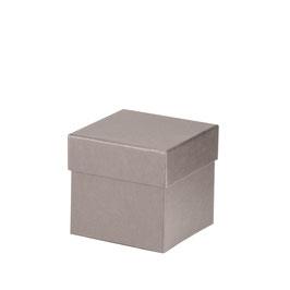 Kartonage quadratisch Taupe 105x105x105mm - Boxline by Rössler 4er Satz