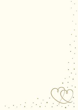 Rössler Designblätter - Herzen Gold (50 Blatt)