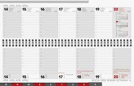Brunnen Querterminkalender 2020 Modell 777 - 32,6x10,2cm