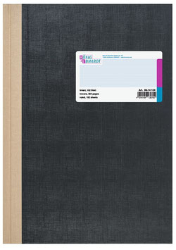 Geschäftsbuch kariert A5 Deckenband-Einband - K&E von Baier & Schneider