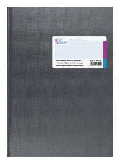 Geschäftsbuch kariert mit Kopfleiste A4 Deckenband-Einband - K&E von König & Enhardt