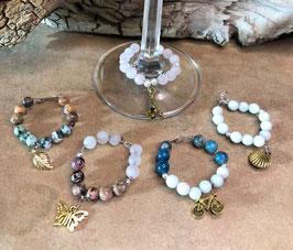 Gemstone Wine Charm Set for Chakra Energy Healing