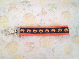 Mini-Schlüsselband mit Kürbis-Muster