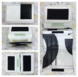 Portemonnaie aus beklebter Blache Maxi schwarz