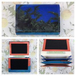 Portemonnaie aus bedruckter Blache Mini türkis