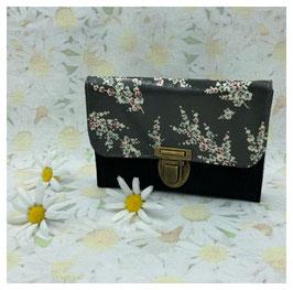 Krims-Krams-Täschchen Blumen schwarz/ schwarz (RV)