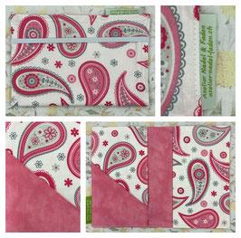 Gesundheitsheft-Hülle (Paisley rosa)