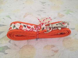 Schlüsselband mit Kirschen-Muster (orange)