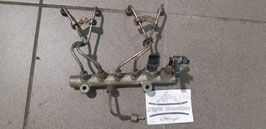 Opel Astra G Caravan Kraftstoff Verteiler Rohr Bosch 0 445 214 049