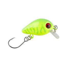 BALZER Trout Attack Wobbler 3cm 2g UV Aktiv sinkend Neon-Gelb Nr.3