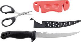 Messer Set mit Schere und Messerschärfer
