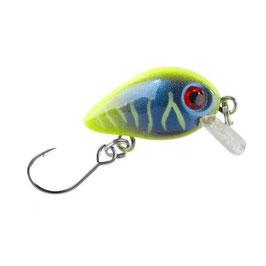 BALZER Trout Attack Wobbler 3cm 2g UV Aktiv sinkend Gelb-Blau Nr.6
