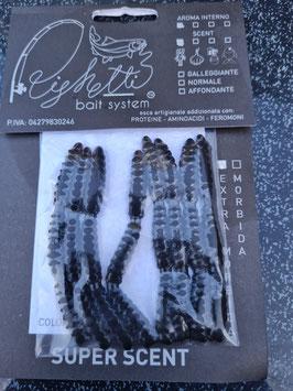 Righetti Gummi-Bienenmaden mega soft ca. 3cm  24 Stück black