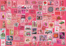 ST - 452 - TIMBRES ROSES - PINK STAMPS