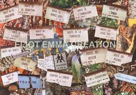 ST - 106 - UNE HISTOIRE D'AMOUR - A LOVE STORY - PLAQUES DES SENTIERS DE LA FORET DE FONTAINEBLEAU - UNE HISTOIRE D'AMOUR - FONTAINEBLEAU FOREST TRAIL PLATES - A LOVE STORY