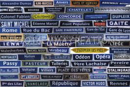 ST - 493 - STATIONS DU METRO PARISIEN - PARIS METRO PLATES
