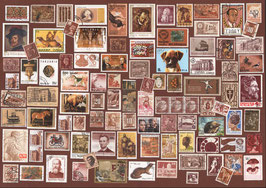 ST - 440 - TIMBRES MARRON - BROWN STAMPS