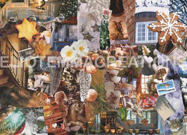 ST - 327 - NOEL BLANC A LA MAISON DE CAMPAGNE - WHITE CHRISTMAS AT THE COUNTRY HOUSE