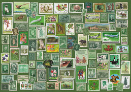 ST - 437 - TIMBRES VERTS - GREEN STAMPS