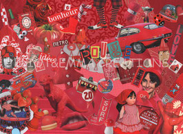 ST - 421 - MELI-MELO ROUGE - RED JUMBLE