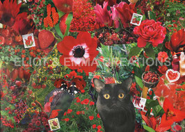ST - 278 - FLEURS ROUGES - RED FLOWERS