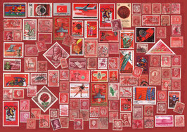 ST - 434 - TIMBRES ROUGES - RED STAMPS
