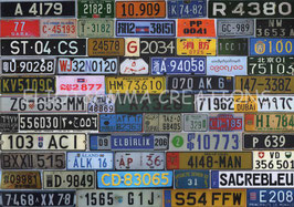 ST - 381 - PLAQUES D'IMMATRICULATION - CAR LICENCE PLATES