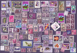 ST - 438 - TIMBRES VIOLETS - PURPLE STAMPS