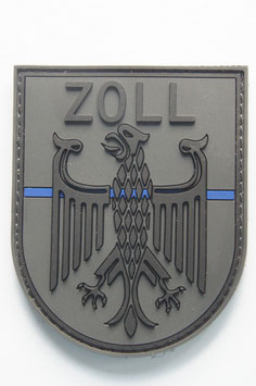 """Thin-Blue-Line""-Zollpatch -neues Design-"