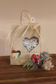 Confezione natalizia - pasta integrale e sugo di pomodoro