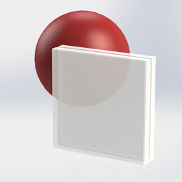 VSG-Glas 16 mm (17.52 mm) aus 2x ESG-Glas, Satinato