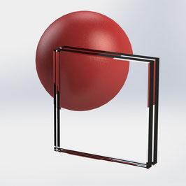 VSG-Glas 20 mm (21.52 mm) aus 2x ESG-Glas, Weiß