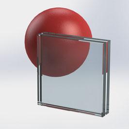 VSG-Glas 20 mm (21.52 mm) aus 2x ESG-Glas, Klar