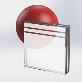 VSG-Glas 20 mm (21.52 mm) aus 2x ESG-Glas, Motiv