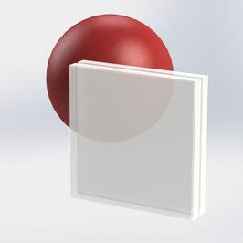 VSG-Glas 20 mm (21.52 mm) aus 2x ESG-Glas, Satinato