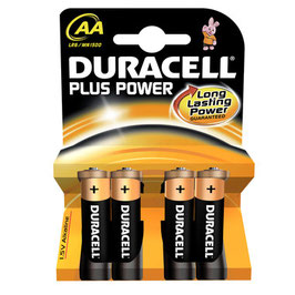 Duracell Plus Power AA size 4 pack