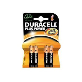 Duracell Plus Power AAA size 4 pack