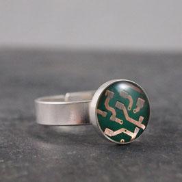 Ring 10mm rund silber