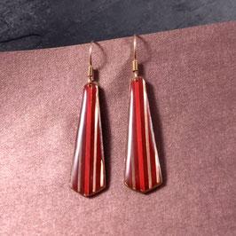 Ohrhänger Krawatte Silber / rosé / vergoldet
