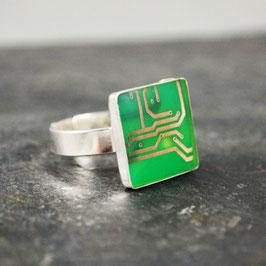 Ring 14mm eckig silber