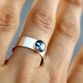 Ring 6mm rund silber