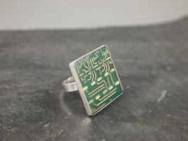 Ring 25mm eckig silber